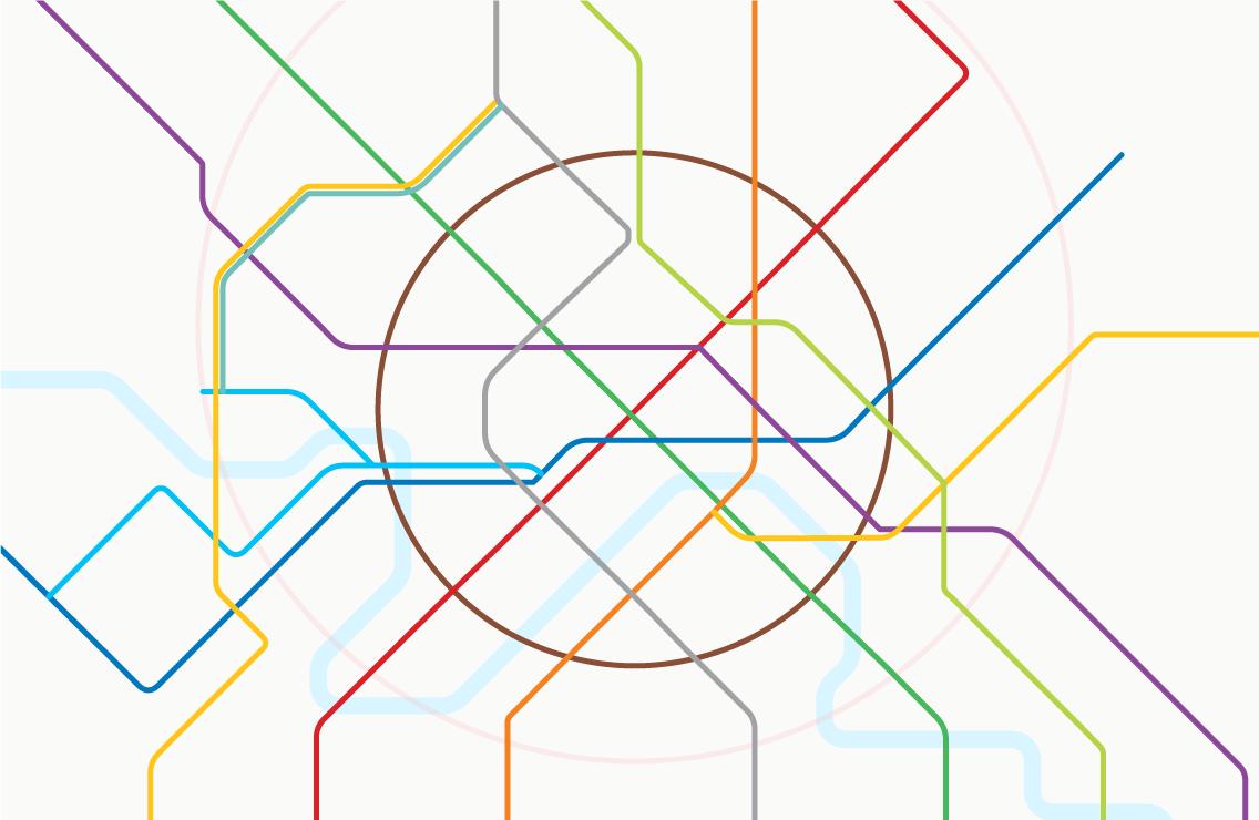 Карта метро спереименованными станциями